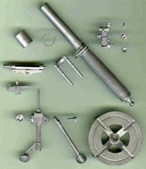 120mm/1:15th Scale British Army 81mm Mortar Set