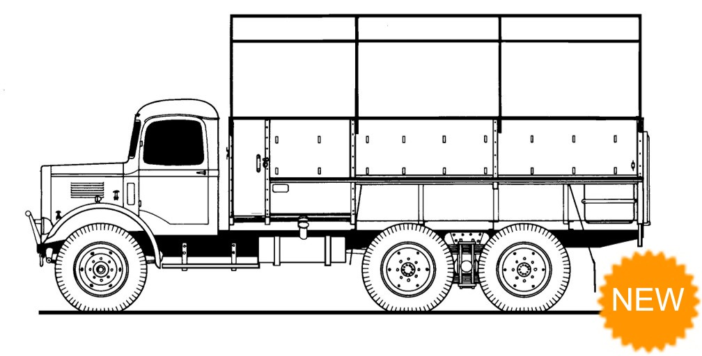 Austin K6 3 Ton 6x4 RAF GS Lorry Conversion Set - for use with Airfix RAF Emergency Set