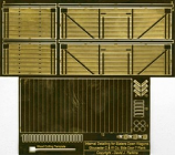 Internal Detailing Sets for Slaters Private Owner Wagons Gloucester C & W Co. 7 Plank Side Door