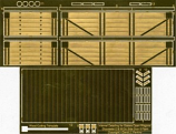 Internal Detailing Sets for Slaters Private Owner Wagons Gloucester C & W Co. 5 Plank Side Door