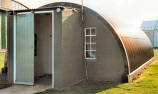 Nissen Hut with Rendered Ends