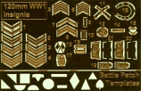 World War One British Army Insignia and Battle Patch Set